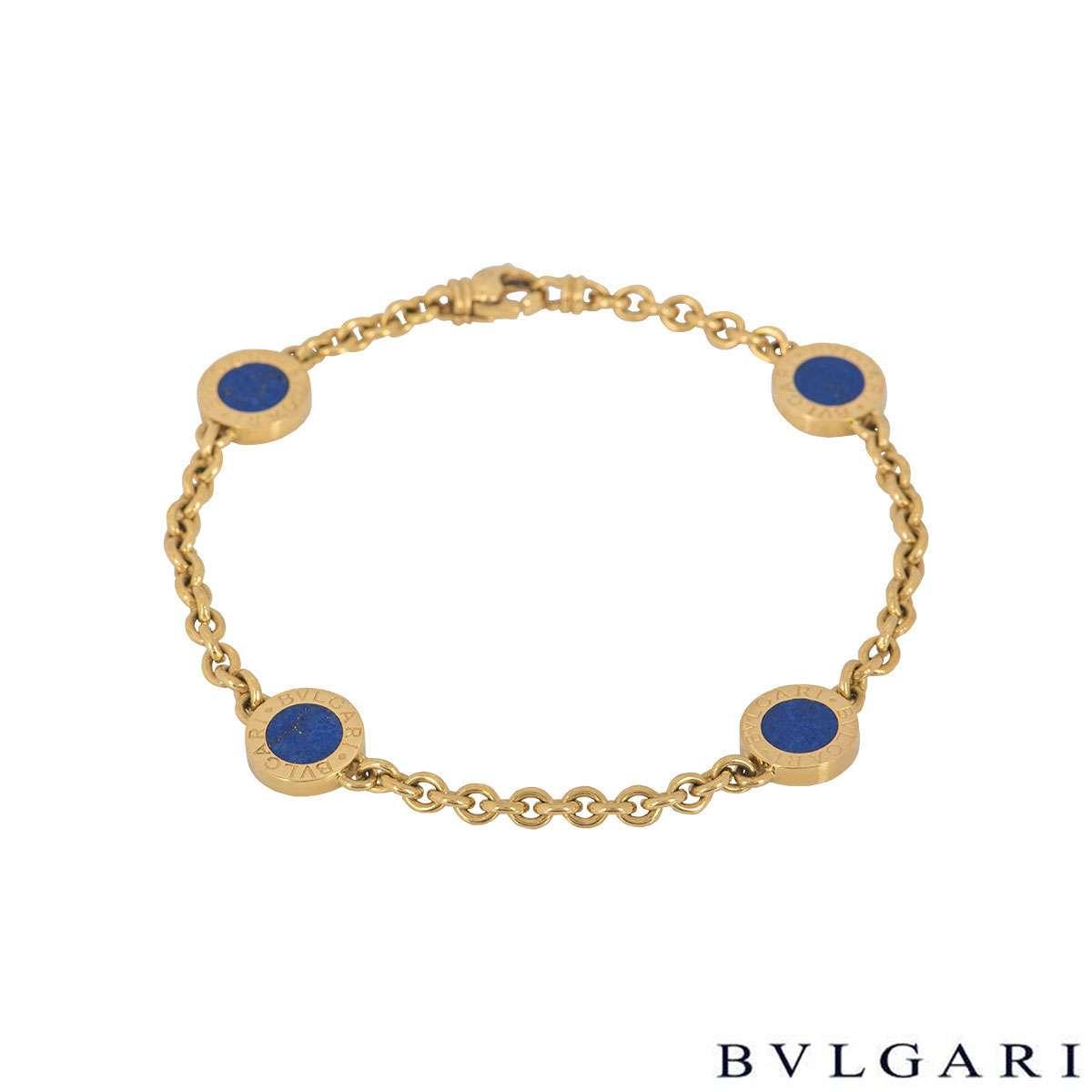 Bvlgari Bvlgari Yellow Gold Lapis Lazuli Bracelet